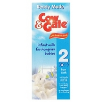 Cow & Gate Ready to Feed Infant Milk from Newborn - 200ml