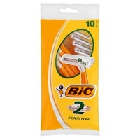 BIC 2 Sensitive Shaver Pack 10
