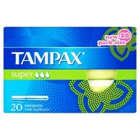 Tampax Super Tampons with Applicator x 20