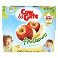 Cow & Gate Apple & Banana from 4-36 Months 4 x 100g