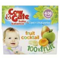 Cow & Gate - Fruit Cocktail 100% Fruit with Vitamin C 4-36 Months X 4