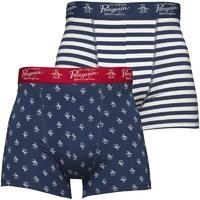 Original Penguin Mens Two Pack Boxers Dark Denim/Bright White/Samba