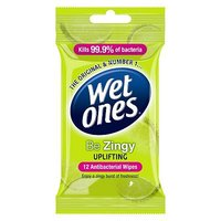 Wet Ones 'Be Zingy' uplifting anti-bacterial wipes 12 pack