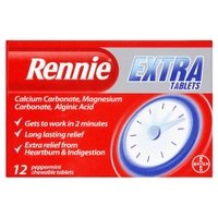 Rennie Extra Tablets 12 Peppermint Chewable Tablets