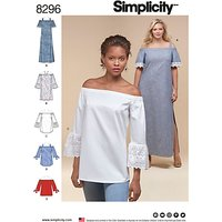 Simplicity Women's Tops and Dress Sewing Pattern, 8296
