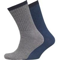 Fox & King Mens Two Pack Boot Socks Grey