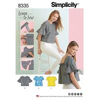 Simplicity Women's Top Sewing Pattern, 8335, A