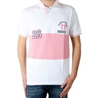 Marion Roth  Polo Shirt  P5 Blanc / Rose  men's Polo shirt in white