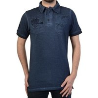 Geographical Norway  Polo Shirt  Kabuto SS Men's 100 Navy  men's Polo shirt in blue