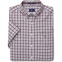 Short Sleeve Oxford Check Shirt - Port Red