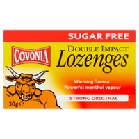 Covonia Double Impact Lozenges Strong Original Sugar Free - 30g