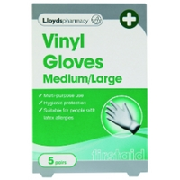 Lloydspharmacy Vinyl Gloves Medium/Large - 5 Pairs