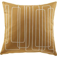 G Plan Vintage Loopy Lines Scatter Cushion, Tonic Mustard