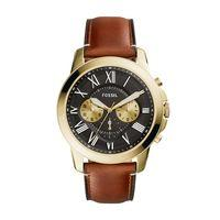 Fossil FS5297 Mens Grant Leather Strap Watch, Brown