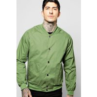 Bomber with Popper Buttons - sage