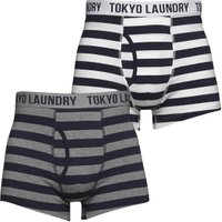 Tokyo Laundry Mens Esterbrooke Two Pack Boxers True Navy