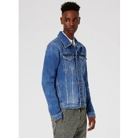 Mens Washed Blue Denim Jacket, Blue