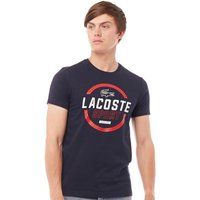 Lacoste Mens Sport Tennis Technical Jersey T-Shirt Navy Blue