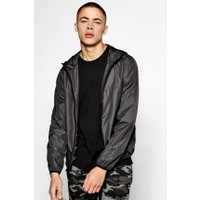 Resistant Hooded Cagoule - charcoal