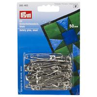 Prym Safety Pins, Steel, 50mm, Pack of 50