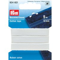 Prym Cotton Tape, White