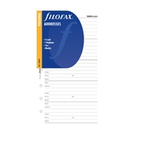 Filofax Inserts Personal Address - Telephone White
