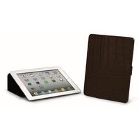 Giorgio Fedon 1919 iPad 2/3 Holder in Crocodile-Grained Cowhide in Black