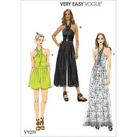 Vogue Women's Jumpsuit and Playsuit Sewing Pattern, 9259