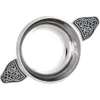 English Pewter 3.5 Celtic Knot Quaich
