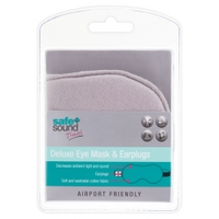 Safe and Sound - Travel Deluxe Eye Mask and Earplugs