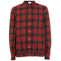 Mens Red Check Overshirt, Red
