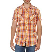 Mustang  1/2 Slv Shirt Jim  men's Short sleeved Shirt in orange