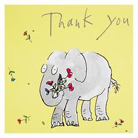 Woodmansterne Zagazoo Elephant Thank You Greeting Card