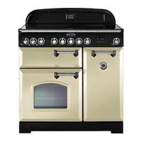 RANGEMASTER Classic Deluxe 90 Electric Ceramic Range Cooker - Cream & Chrome, Cream