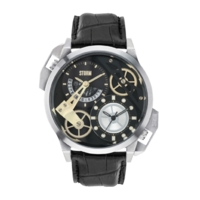 Dualon Leather Strap Watch for Men