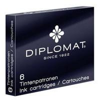 Diplomat Ink Cartridges X 6 Black