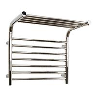 John Lewis & Partners Lunan Central Heated Towel Rail and Valves, from the Wall