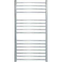 John Lewis & Partners Osborne Dual Fuel Heated Towel Rail and Valves, from the Wall