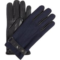 Linea Melton Leather Glove, Navy