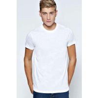 Crew Neck T Shirt - white
