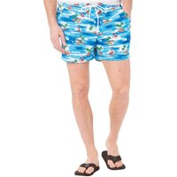 French Connection Mens Palm Swim Shorts Multi Palm