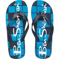 Ben Sherman Mens Atlantic Flip Flops Blue