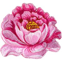 La Stphanoise Flower Iron On Patch, Pink