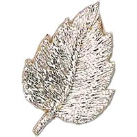 La Stephanoise Leaf Iron On Patch, Silver