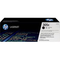 HP 305X High Yield Original LaserJet Black Toner Cartridge, Black