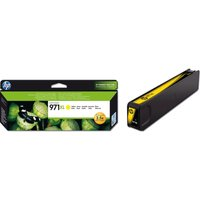 HP 971XL High Yield Original Yellow Ink Cartridge, Yellow