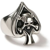 Mens Black Skull Heat Ring*, Black
