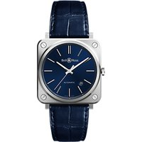 Bell & Ross BRS92-BLU-ST/SCR Men's Automatic Date Alligator Leather Strap Watch, Navy