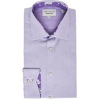 Ted Baker Eager Dot Print Tailored Fit Shirt, Purple