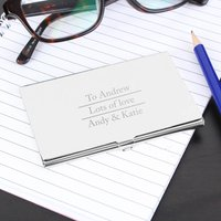 Personalised Classic Card Holder